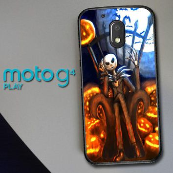 Nightmare Before Christmas Jack Skellington V1947 Motorola Moto G4 Play Case
