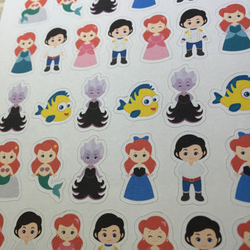 Little Mermaid Planner Sticker ~ Disney Inspired | Life Planner | EC | Erin Condren | Limelife | Inkwell | Plum | Kikki | Decorative | Movie