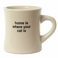 Home Is Where Your Cat Is Retro Diner Mug at the Bibelot Shops