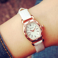 Fashion Women Small Leather Watch Gift - 536