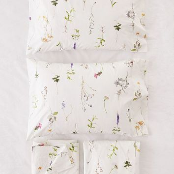 Lola Photo Floral Sheet Set | Urban Outfitters