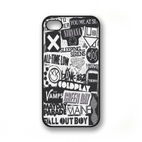The xx, coldplay, arctic monkeys, sleeping with sirens ,The 1975 - TicTac Fantasy - Print on Hard plastic case for  iPhone 4/4s/5/5s