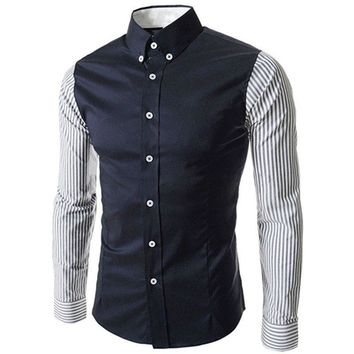 Podom Men's Button Down Casual Slim Fit Shirt