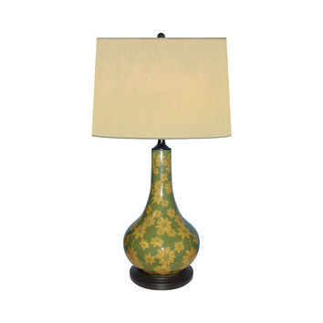 """Beautiful Porcelain Daisy Floral Table Lamp 31"""" with Shade"""