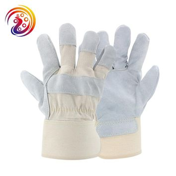 OLSON DEEPAK Cow Split Leather Transport Driving Gardening Carrying Factory Protective Work Gloves HY028 Free Shipping