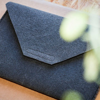 reduced needle felted notebook case for Apple Macbook