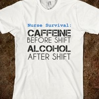 Supermarket: Nurse Survival T-Shirt from Glamfoxx Shirts