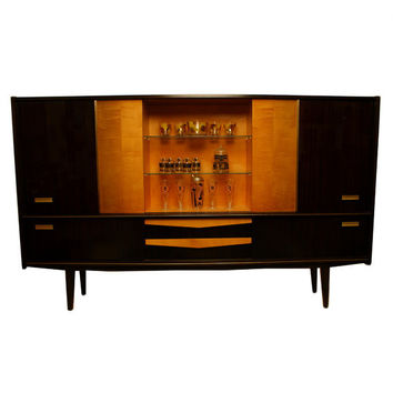 FREE SHIPPING 1950s Monumental Shrunk Cabinet Mid Century Modern Made in Germany