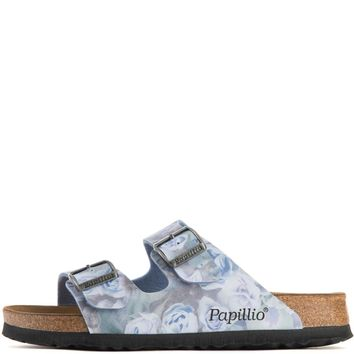 Beauty Ticks Birkenstock For Women: Papillio Arizona Silky Rose Blue Narrow Sandals