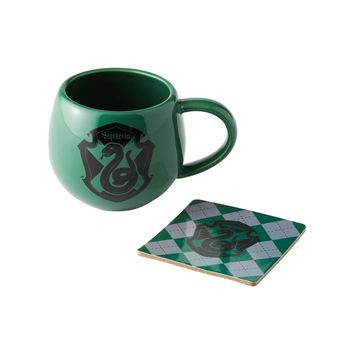 Harry Potter by Onimd Slytherin Crest Mug Coaster Set New with Box