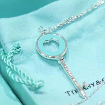 Tiffany & Co. Classic Blue Heart Necklace