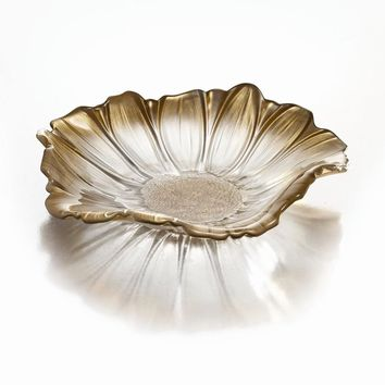 Fifth Avenue Crystal Venezia Gold Flower Tray