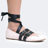 Strappy Buckle Ballet Flat