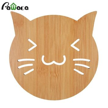 Hot Pot Holder Pads,Wooden Trivet Mat Cup Bowls Heat Insulation Beverage Coaster Mat,Fish Design Durable,Kitchen Table Placemat