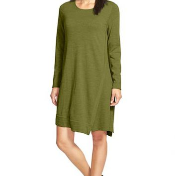 Women's Eileen Fisher Merino Wool Jewel Neck Dress,