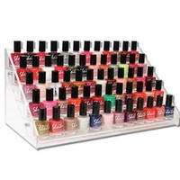 Acrylic 5 Step Counter Display Nail Polish Organizer