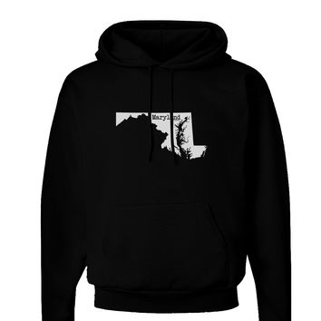 Maryland - United States Shape Dark Hoodie Sweatshirt by TooLoud