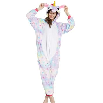 Anime Pajama Sets Warm Onesuits for adults Men Women unicornio C 3578bbb73