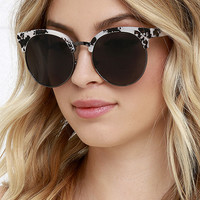 X-Ray Edition Black and Ivory Sunglasses