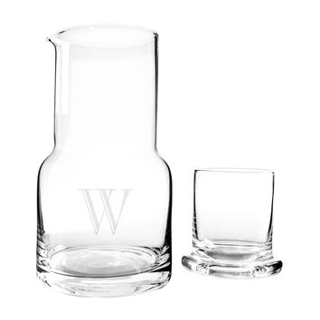 Personalized 28 oz. Bedside Water Carafe and Glass Set | Overstock.com Shopping - The Best Deals on Beverage Dispensers