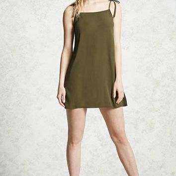 Gauze Tie-Strap Mini Dress