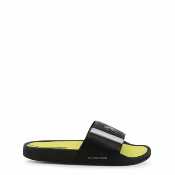 U.S. Polo Men Black Flip Flops