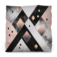 Art Deco Diamonds Outdoor Throw Pillow