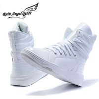 Fashion casual solid color High-top skateboarding shoes men's hip-hop shoes