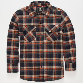 Elixir Lincoln Boys Flannel Shirt Navy  In Sizes