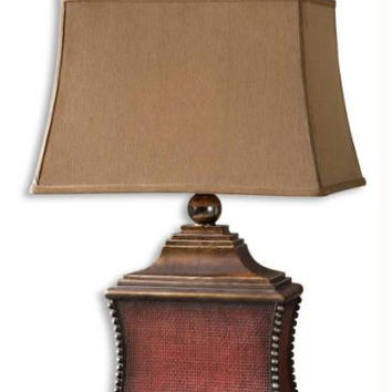 Table Lamp - Aged Red Finish