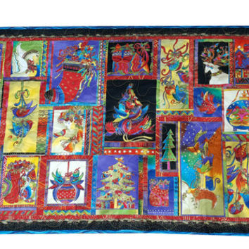 Christmas Wall Hanging Quilt in Laurel Burch