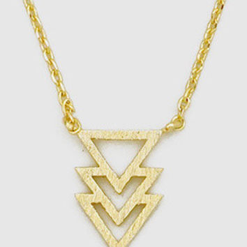 Three Triangle Necklace
