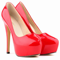 Sexy Club Solid Color High Heels Shallow Shoes