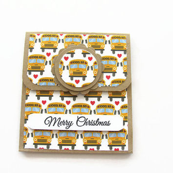 Bus Driver Appreciation Gift Card Holder, Bus Drivers, Merry Christmas