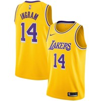 Men's Los Angeles Lakers Brandon Ingram Nike Gold Swingman Jersey - Icon Edition - Best Deal Online