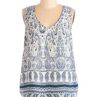 ModCloth Boho Mid-length Sleeveless Paisley Sundays Top