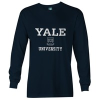 Yale Crest Long Sleeve T-Shirt (Navy)