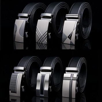 Automatic Buckle Belts For Men High Quality Leather Strap Male Belt  Girdle Wide Men Belt Waistband ceinture cinto masculino AB2