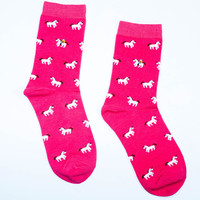 Pink Unicorn Sock