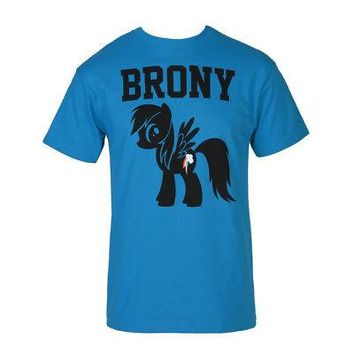 My Little Pony MLP Rainbow Dash Brony Logo Licensed Adult Unisex T-Shirts