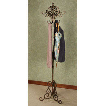 Meyda Scrolling Metal Coat Rack
