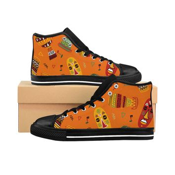 Men's African Spirit High-top Sneakers