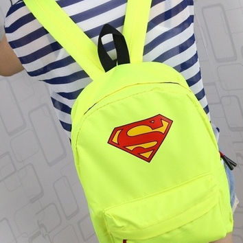 Cute Superman Backpack Green W138285 = 1946835268