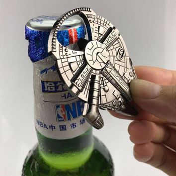 VOND4H Creative Kitchen Gadgets Dining & Bar Cooking Tools Star Wars Key Ring Portable Beer Bottle Opener