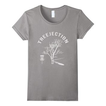Treejection Funny Disc Golf Frisbee Rejection T-Shirt