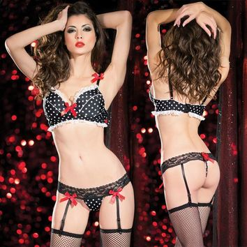 Cute On Sale Hot Deal Sexy Bikini Socks Bra Set Exotic Lingerie [6596488259]