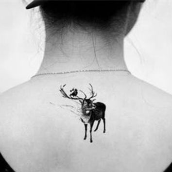 (Min order $0.5) waterproof temporary tattoo tatoo henna fake flash tattoo stickers Taty tatto Three deer SYA011