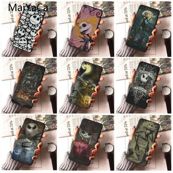 MaiYaCa The Nightmare Before Christmas  Black Case cover 8 design cell Case For iphone 5s 5c SE 6s 6plus 7 X 8plus Phone case
