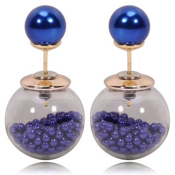 Gum Tee Tribal Earrings - Caviar Collection Royal Blue