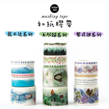 5 pcs/set Original Chinese feature paper washi tape Decorative adhesive sticker Scrapbooking diary Stationery School tools 6122